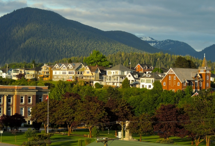 Prince Rupert neighbourhood from hotel room