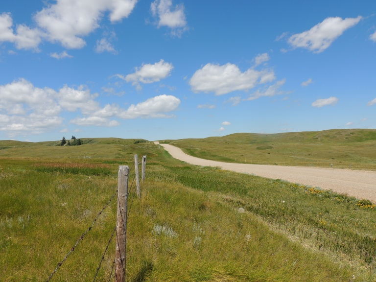 Exploring the backroads near Eastend, SK