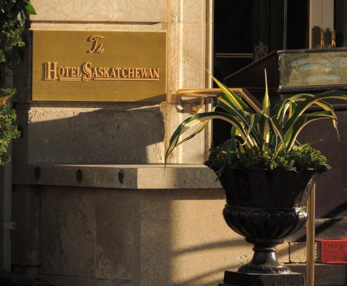 Hotel Sask sign in Regina