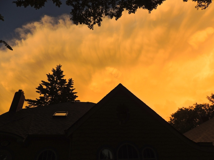 sunset storm clouds 2