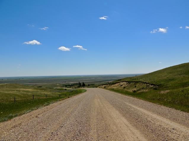 Gravel road near Eastend, Saskatchewan, July 2013