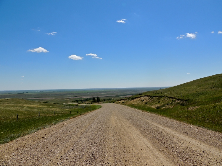 Gravel road near Eastend, Saskatchewan, July 2013