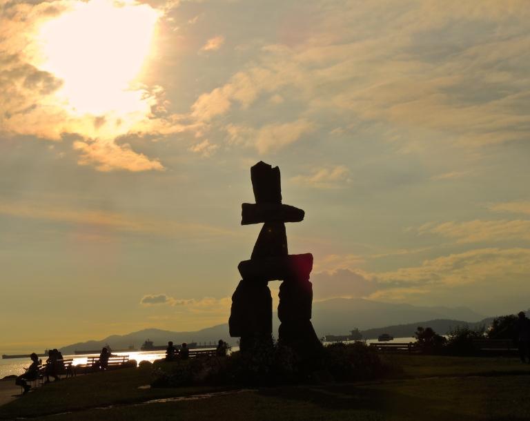 Summer Solstice English Bay 3 - Inukshuk