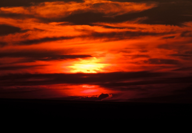 Sunset at Cypress Hills at the end of July.
