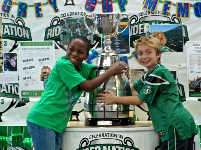 Grey Cup at the library 2