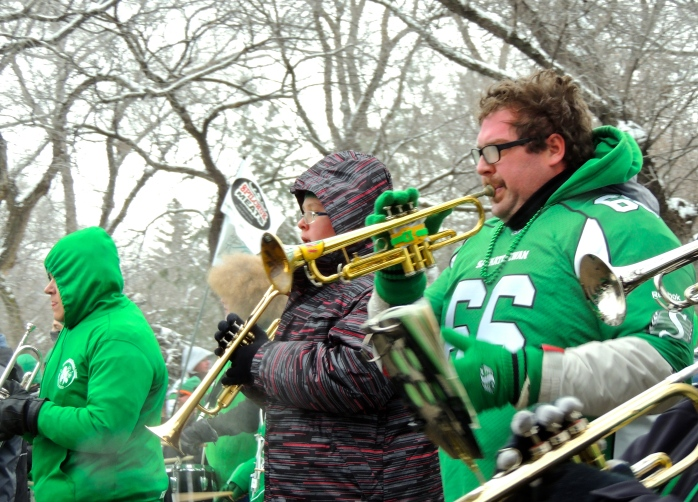 Saturday morning was a very cold day for a parade. But people still went because that's what we do in Saskatchewan.