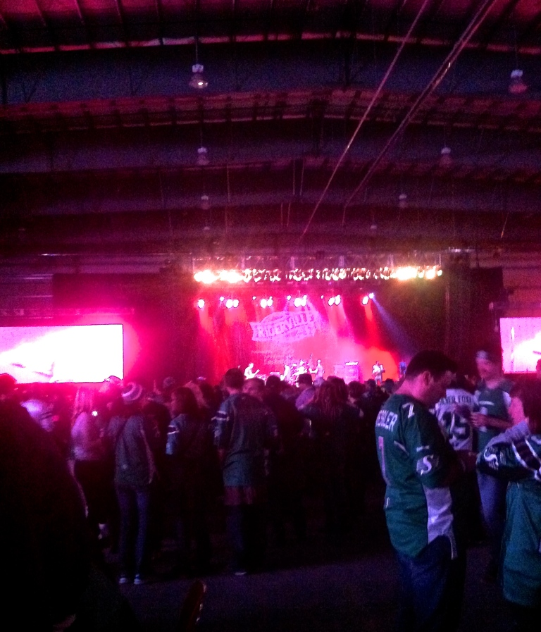 Very bad picture taken at Riderville (one of the party venues).  It was a bit too much for me, I enjoyed some of the other team's party venues more.
