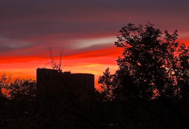 fall sunset from my balcony