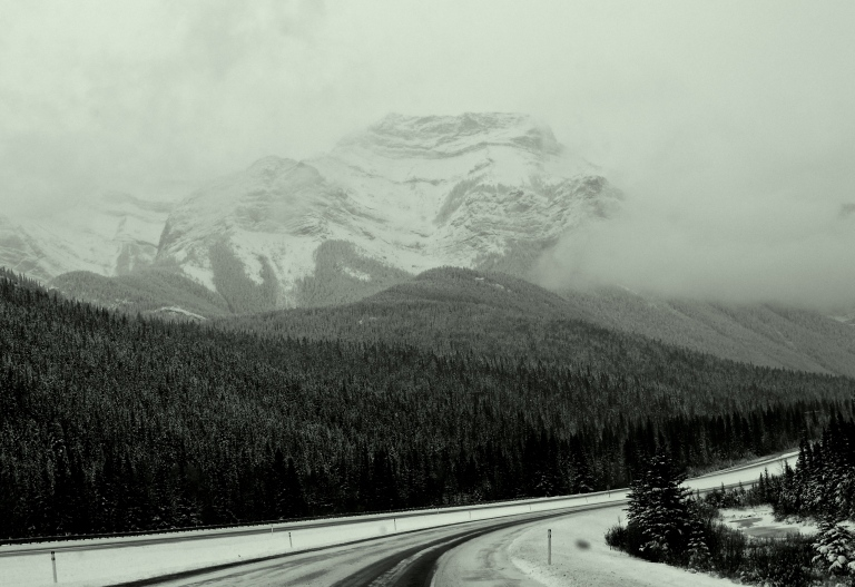 driving from Kananaskis to Banff
