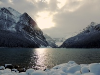 ...the mountains...Lake Louise in this pic...