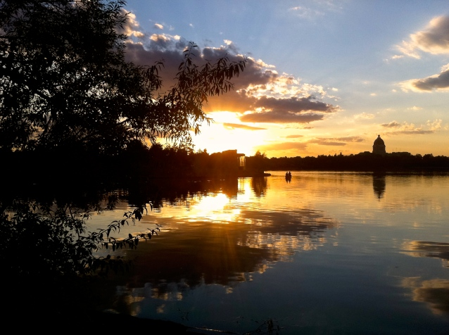 August sunset Wascana Lake