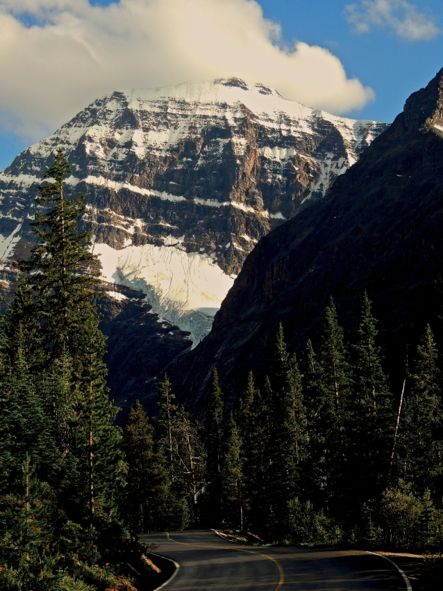 Road to Mount Edith Cavell, July 2012