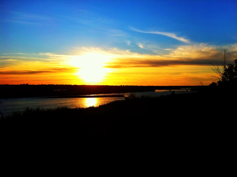 North Saskatchewan River sunset - iphone pic