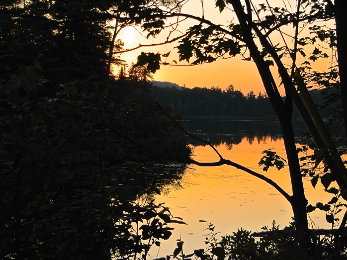 Algonquin Park sunset in Ontario