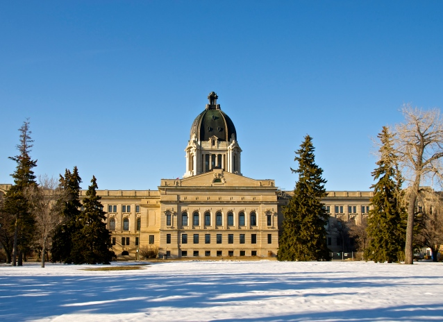 backside of the Saskatchewan Legislative Building