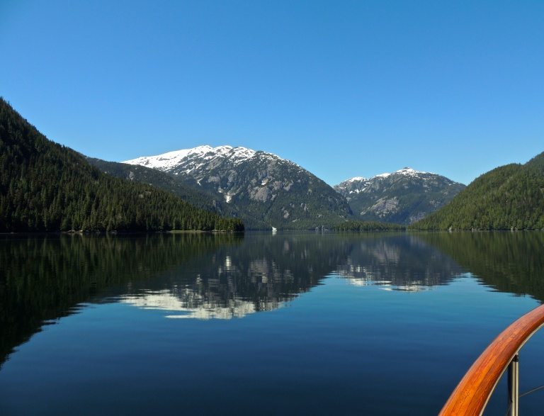 entering anchorage in the Great Bear Rainforest