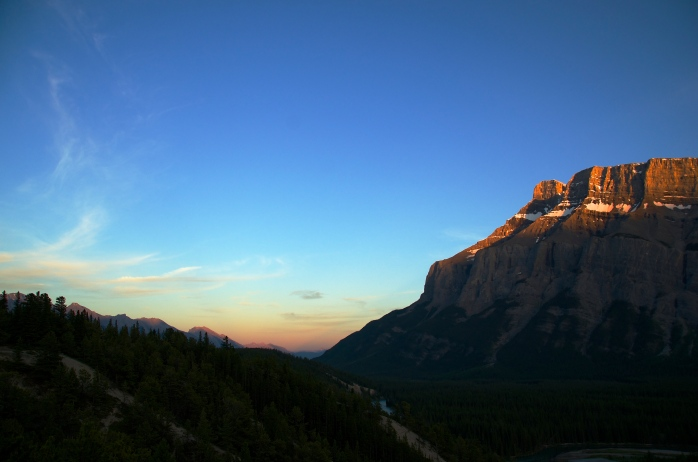 Rundle Mountain at sunset 2