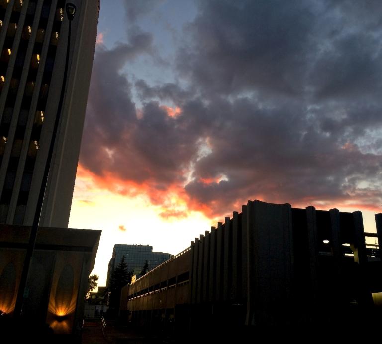 Thursday night sunset
