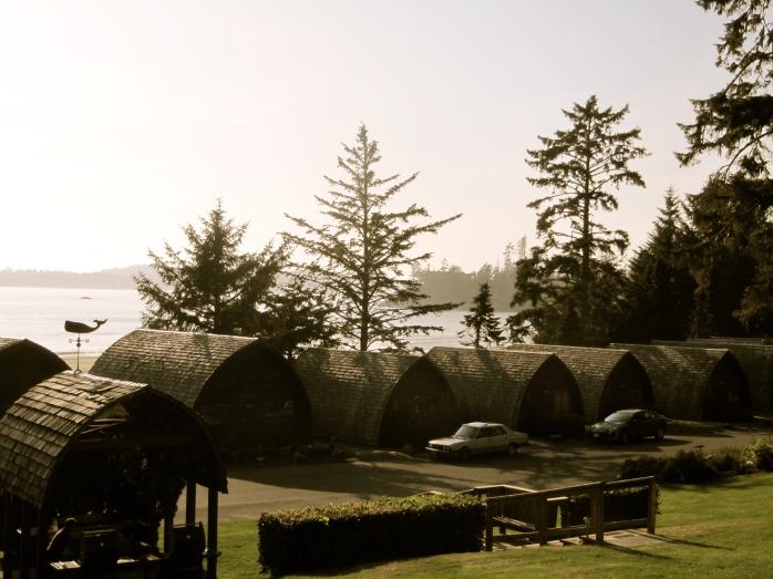 Ocean Village cabins from balcony
