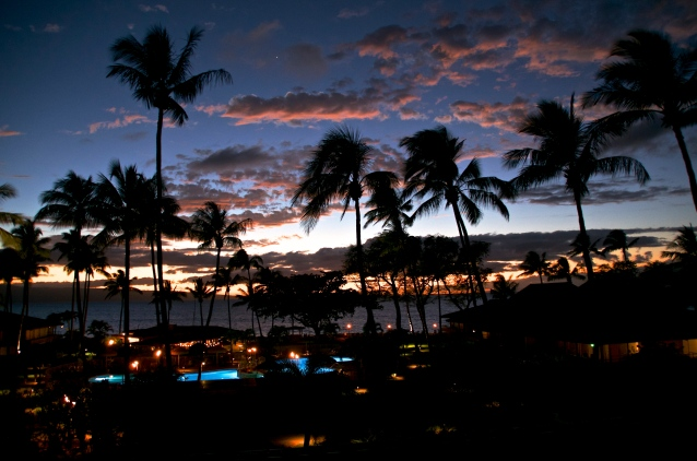 Aston Maui Kaanapali Villas early evening view