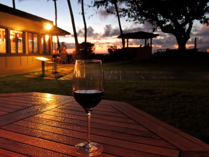 wine glass in the rain