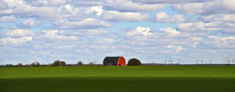 red barn, Sherwood Forest Golf & Country Club, near Regina