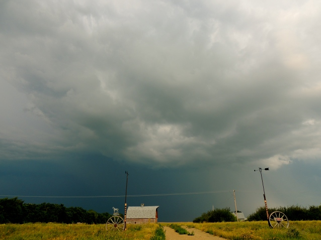 summer storm clouds on the prairies