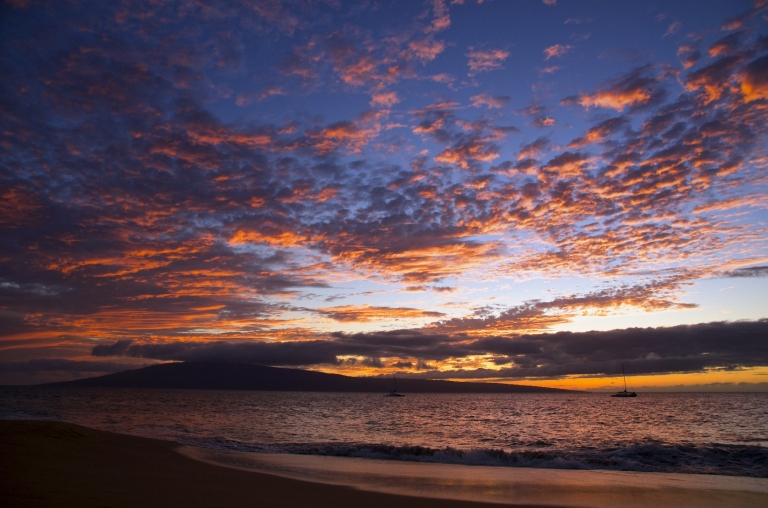 Kaanapali Beach Sunset 2 March 2015