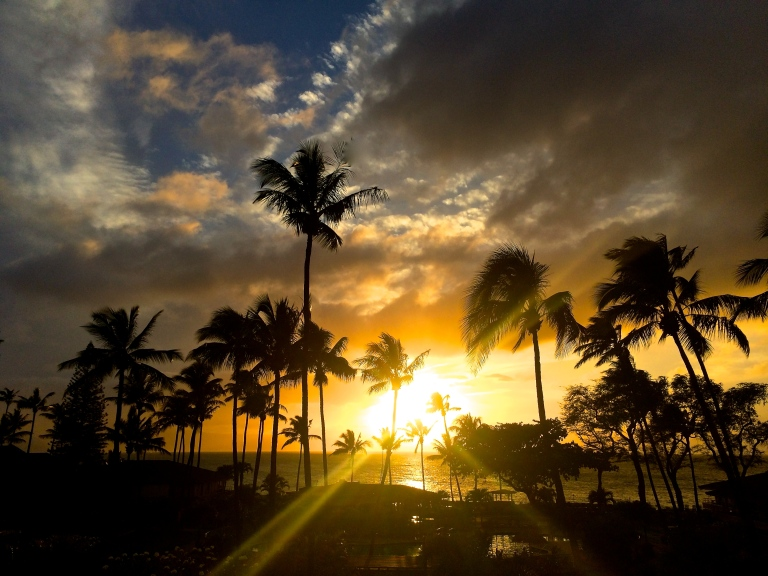 Kaanapali Beach sunset March 2015