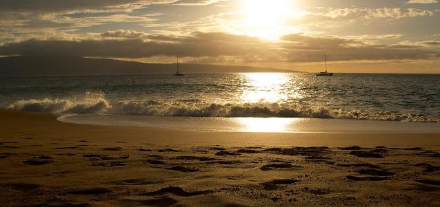 Kaanapali Beach Sunset Waves 2