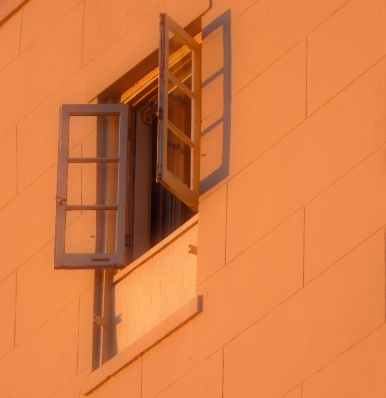 open window on Ursulines Avenue
