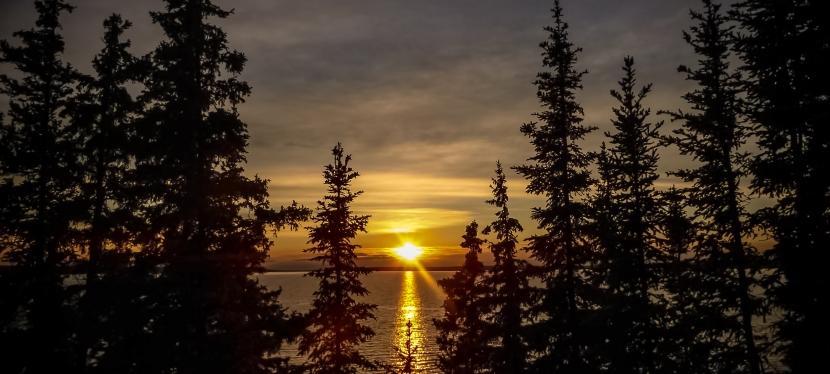 Prince Albert National ParkSunset