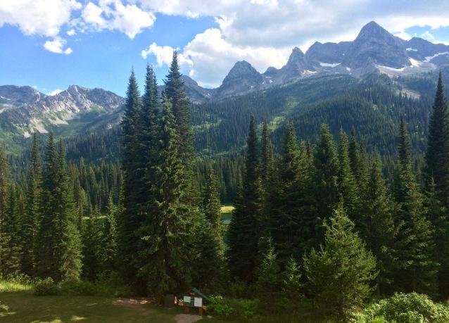 view from Tamarack Lodge
