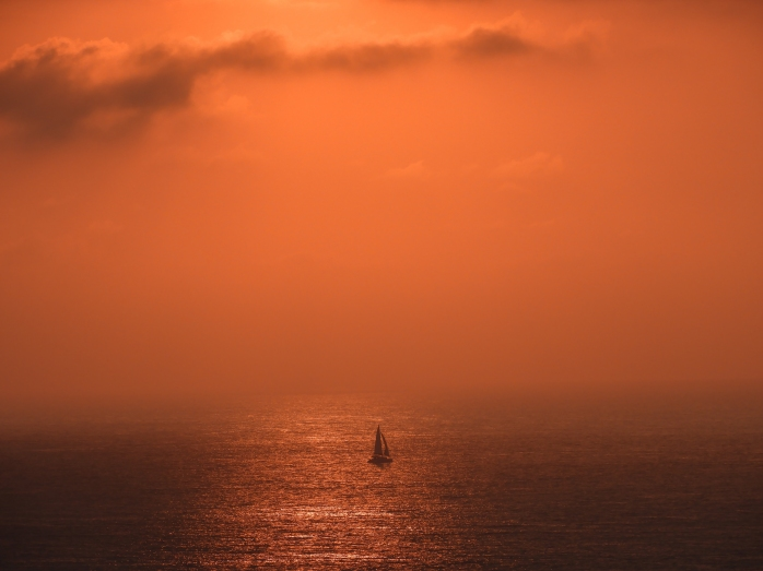alone on the ocean