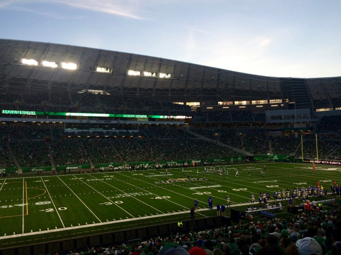 new Mosaic Stadium on Canada Day