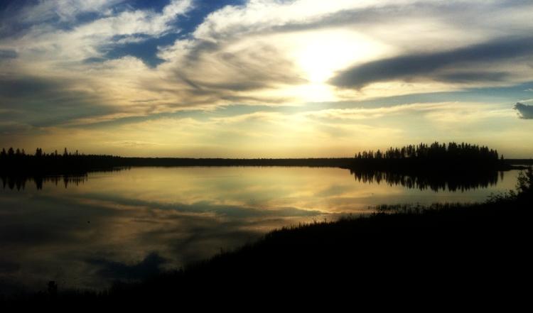 Elk Island Sunset in 2012 1