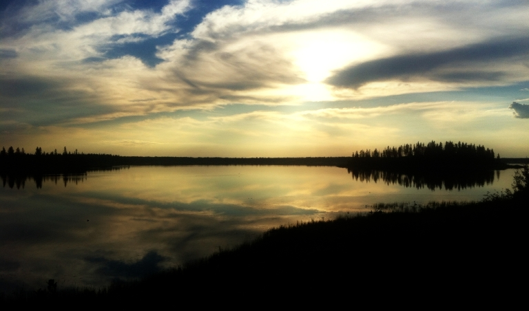Elk Island Sunset in 2012 1