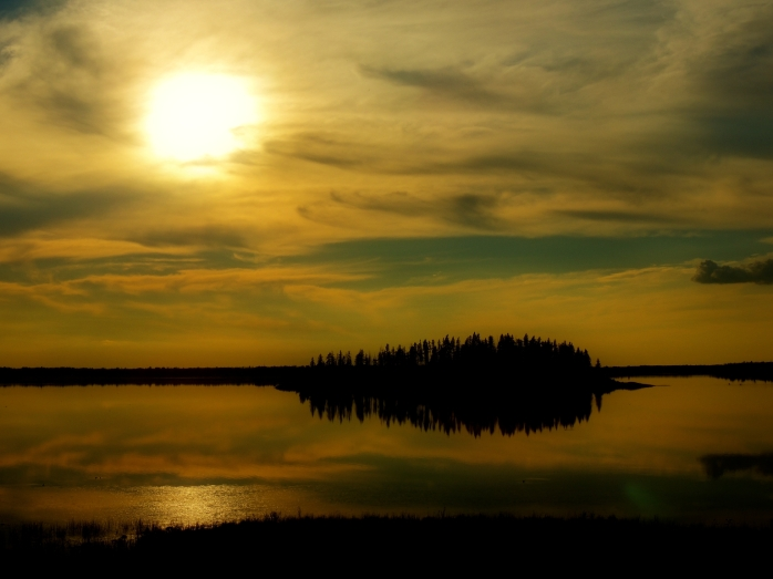 Elk Island Sunset in 2012 2