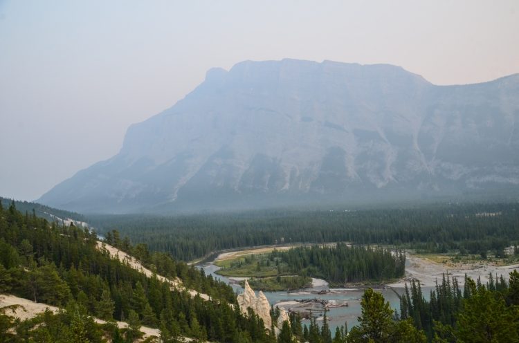 Rundle on a smoky day